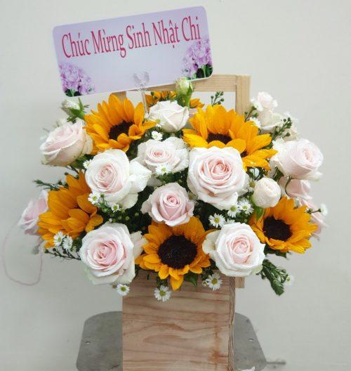 giỏ hoa tặng sinh nhật đẹp