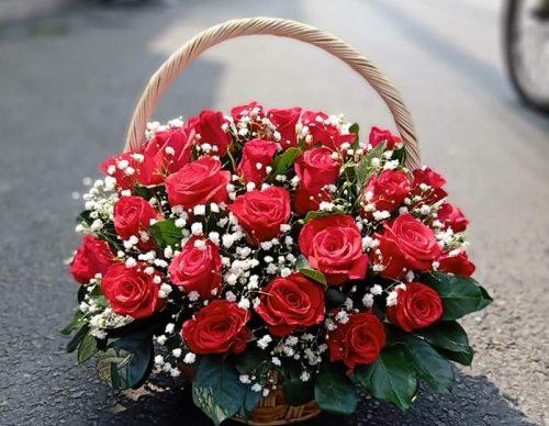 giỏ hoa hồng đầy ý nghĩa khi tặng