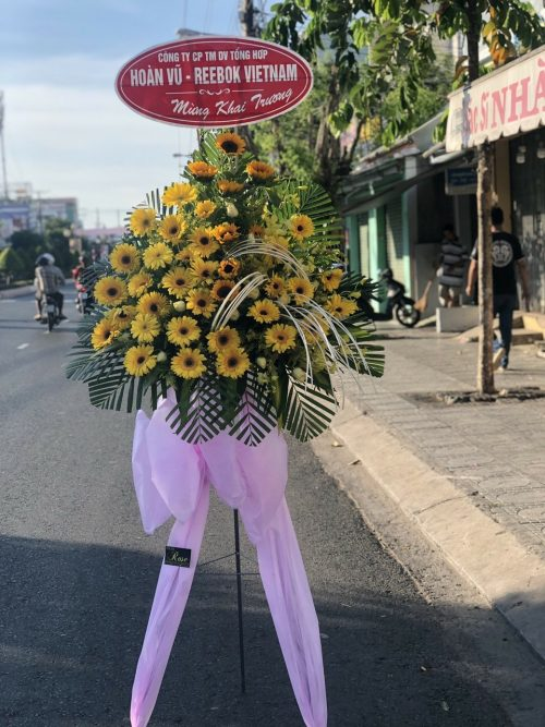 kệ hoa tặng khai trương hồng phát