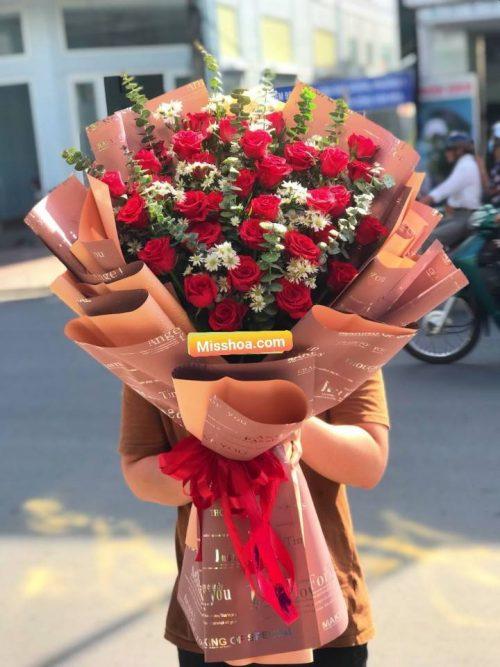 mẫu bó hoa tươi đẹp tại Ninh Bình